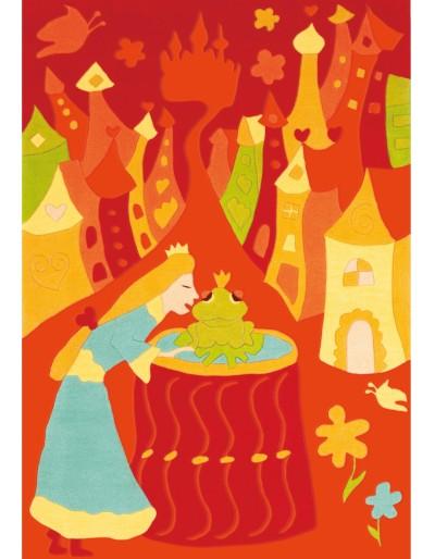 Tappeto bambini principessa cm.110x170