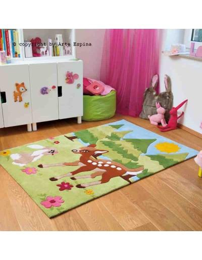 Tappeto moderno Kids Arte Espina green 4175-59 rivenditore a Bergamo e Brescia
