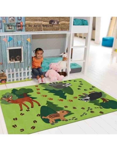 Tappeto moderno Kids Arte Espina green 4176-58 rivenditore a Bergamo e Brescia