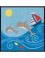 Tappeto moderno Kids Arte Espina blue 3097-52 rivenditore a Bergamo e Brescia