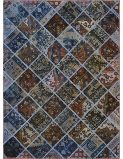 Tappeto moderno persiano pachtwork cm244x180