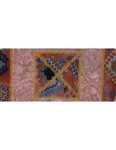Tappeto moderno persiano pachtwork cm95x95