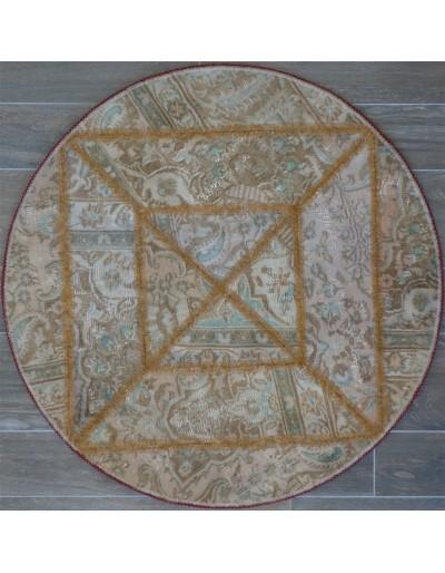 Tappeto moderno tondo persiano pachtwork cm102x102
