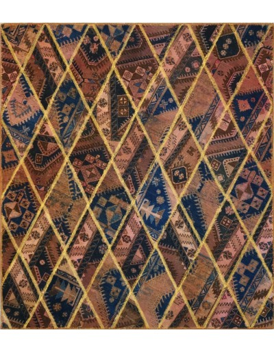 Tappeto moderno persiano pachtwork cm235x208