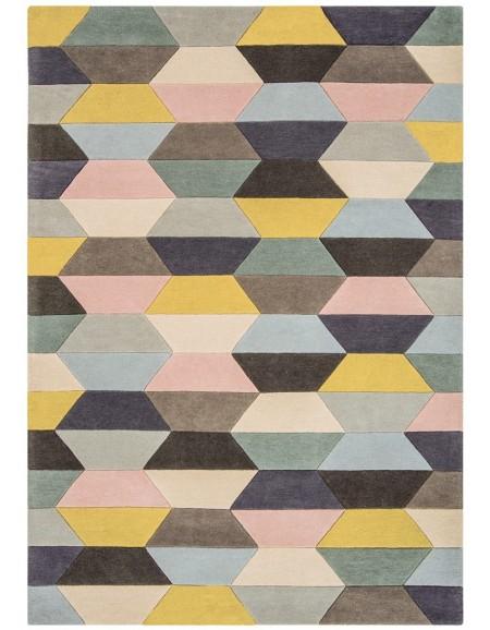 Tappeto moderno FUNK honeycomb pastel