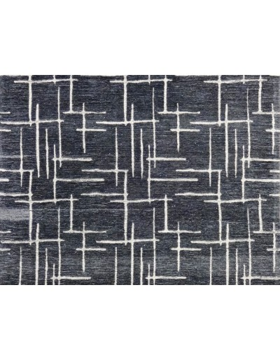 Tappeto moderno new toledo nero-argento 230x160